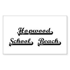 Hopwood School Beach Classic Retro Design Decal