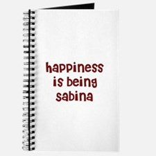happiness is being Sabina Journal