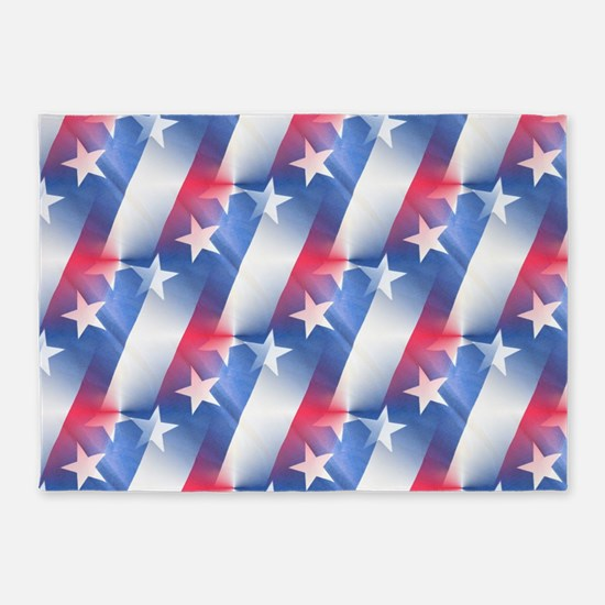 red white blue 5'x7'Area Rug