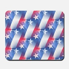 red white blue Mousepad
