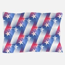 red white blue Pillow Case