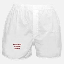 happiness is being Sabina Boxer Shorts