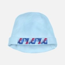 red white blue baby hat