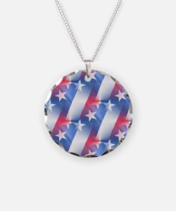 red white blue Necklace