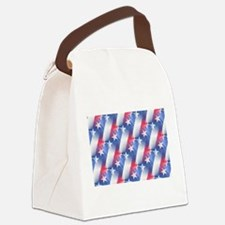 red white blue Canvas Lunch Bag