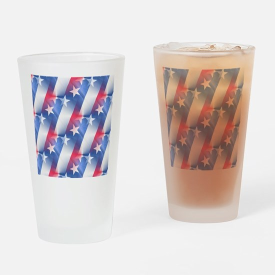 red white blue Drinking Glass