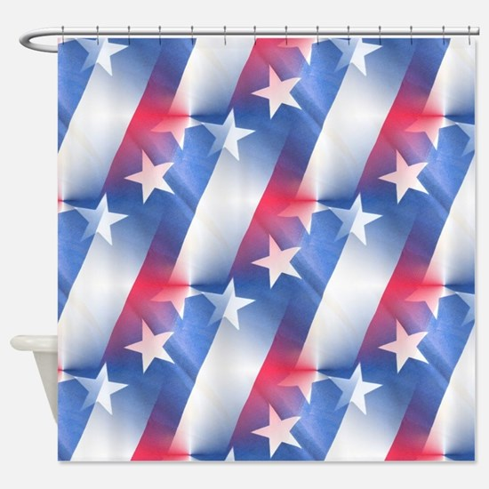 Red white blue Shower CurtainRed White Blue Shower Curtains   CafePress. Red And Blue Shower Curtain. Home Design Ideas