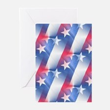red white blue Greeting Cards