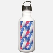 red white blue Water Bottle