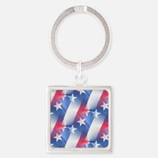 red white blue Keychains