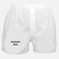 Swimming Hole Classic Retro Design Boxer Shorts