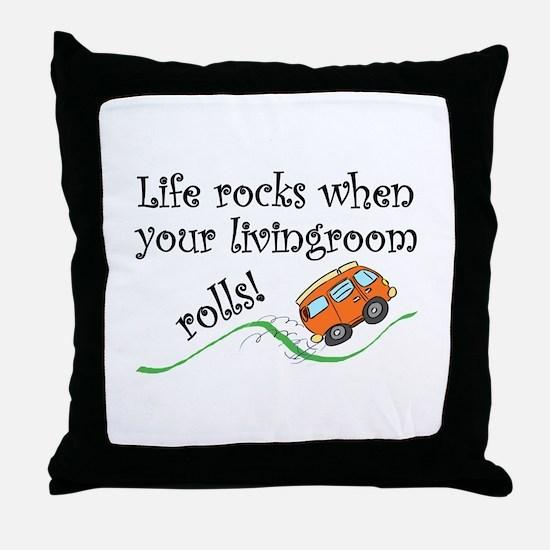 Life Rocks Throw Pillow