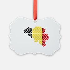 Chevron Belgium Ornament