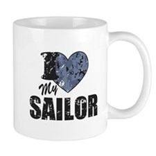 I Love My Sailor Mugs