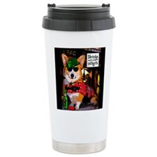 Corgi in a Bar Travel Mug