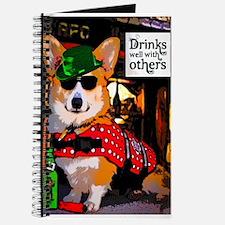 St Patricks Day Corgi Dog Journal