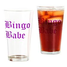 Bingo Babe Drinking Glass