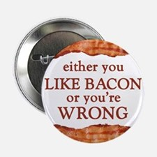 """Either You Like Bacon Or You're Wrong 2.25"""" Button"""