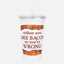 Either You Like Bacon Or You're Wrong Acrylic Doub