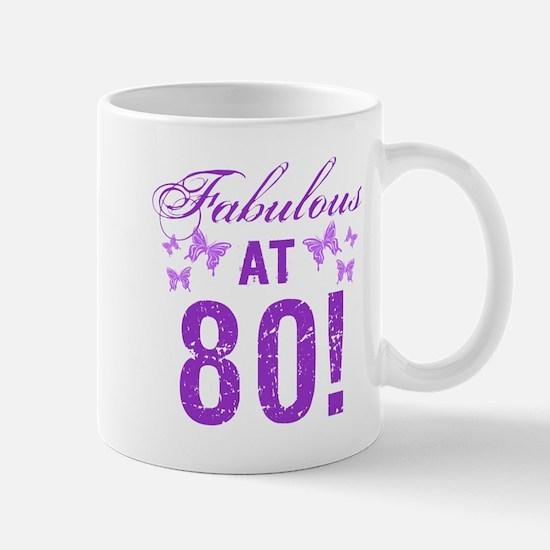 Fabulous 80th Birthday Mugs