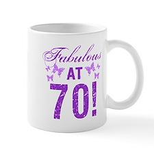 Fabulous 70th Birthday Mugs