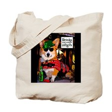 Corgi in a Bar Tote Bag