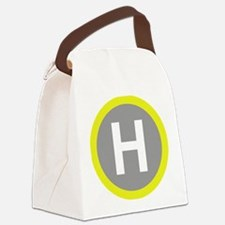 Helipad Sign Canvas Lunch Bag