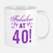 Fabulous 40th Birthday Mugs