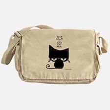 Keep Calm & Just Say Meh - Cat Messenger Bag
