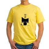 Cat Mens Yellow T-shirts