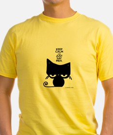 Keep Calm & Just Say Meh - Cat T-Shirt