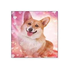 Smiling Corgi Valentine Sticker