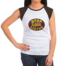 Stop, Look and Listen Women's Cap Sleeve T-Shirt