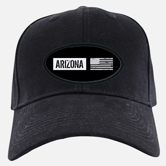 Black & White U.S. Flag: Arizona Baseball Hat