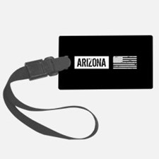 Black & White U.S. Flag: Arizona Luggage Tag