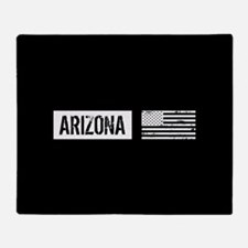 Black & White U.S. Flag: Arizona Throw Blanket