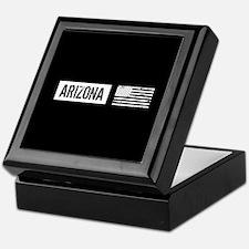 Black & White U.S. Flag: Arizona Keepsake Box
