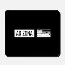 Black & White U.S. Flag: Arizona Mousepad