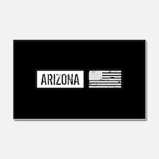 Black & White U.S. Flag: Arizon Car Magnet 20 x 12