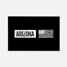 Black & White U.S. Flag: Arizona Rectangle Magnet