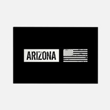 Black & White U.S. Flag Rectangle Magnet (10 pack)