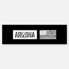 Black & White U.S. Flag: Ar Bumper Bumper Sticker