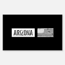 Black & White U.S. Flag: Decal