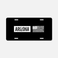 Black & White U.S. Flag: Ar Aluminum License Plate