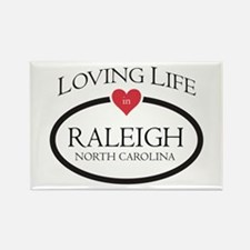 Loving Life in Raleigh, NC Magnets