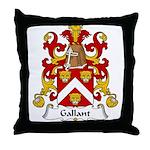 Gallant Family Crest  Throw Pillow