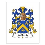 Galland Family Crest Small Poster
