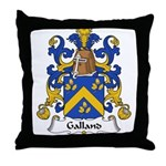 Galland Family Crest Throw Pillow