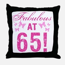 Fabulous 65th Birthday Throw Pillow