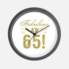 Fabulous 65th Birthday Wall Clock